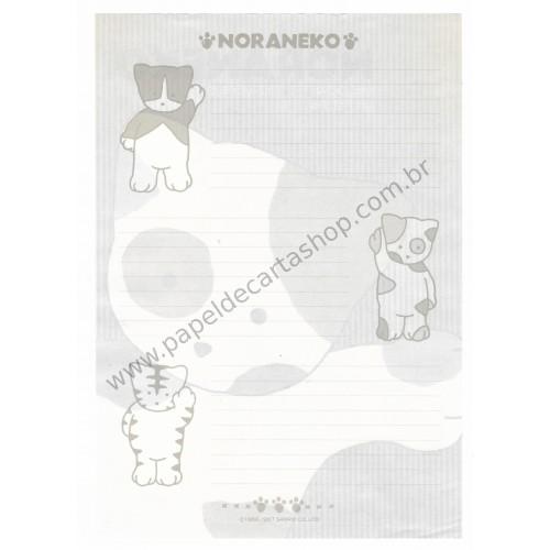 Ano 1987. Conjunto de Papel de Carta Noraneko Vintage Sanrio