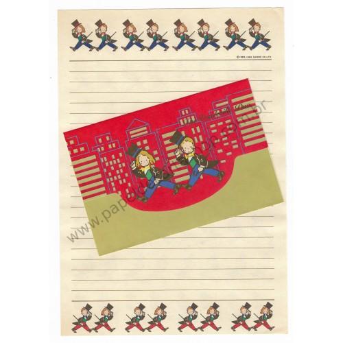 Ano 1984. Conjunto de Papel de Carta Vaudeville Duo CVM Vintage Sanrio