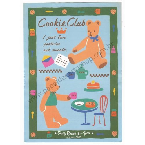 Ano 1995. Conjunto de Papel de Carta Cookie Club Antigo (Vintage) Sanrio