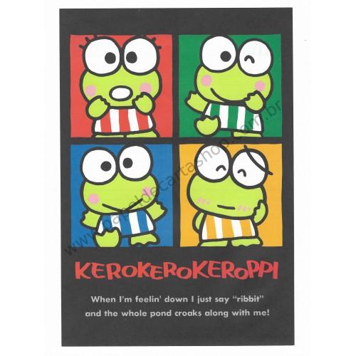 Ano 1989. Conjunto de Papel de Carta Keroppi CBK Antigo (Vintage) Sanrio