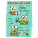 Ano 1989. Conjunto de Papel de Carta Keroppi CAZ Vintage Sanrio