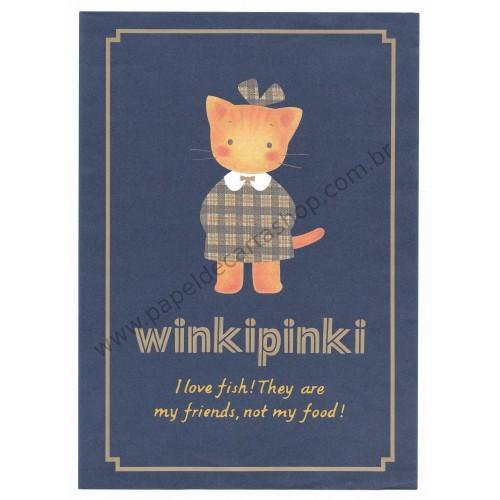 Ano 1992. Conjunto de Papel de Carta Winkipinki Antigo MM (Vintage) Sanrio