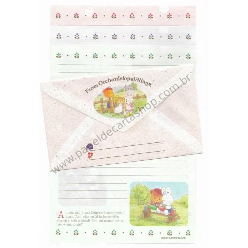 Ano 1987. Conjunto de Papel de Carta Little Wonder Story Sanrio