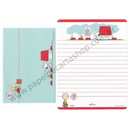 Conjunto de Papel de Carta Snoopy Bon Appétit - Hallmark Peanuts LLC