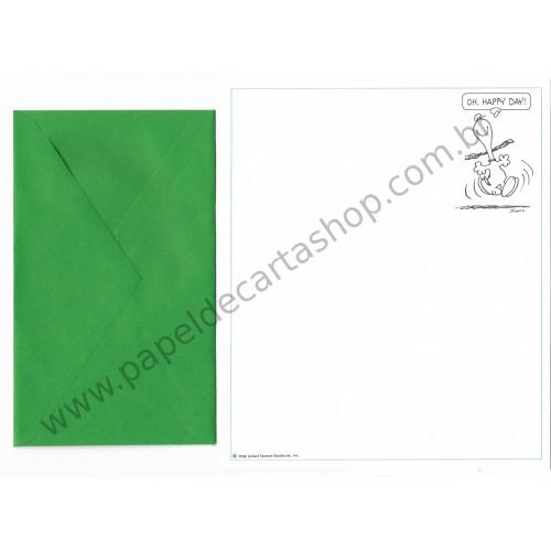 Conjunto de Papel de Carta Antigo Importado SNOOPY M54