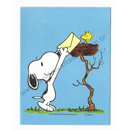 Notecard ANTIGO Snoopy & Woodstock Hallmark Crown