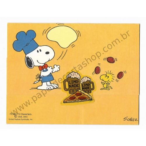 Postalete ANTIGO COM SELINHO COLADO Snoopy - Pizza & Limonade