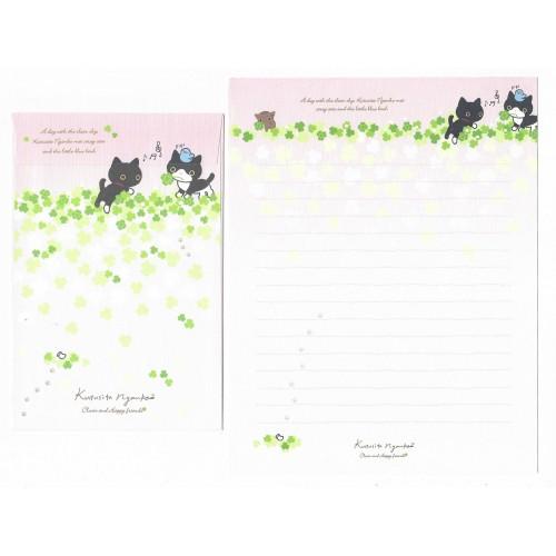 Conjunto de Papel de Carta Importado Kutusita Nyanko Clover 4 - San-X Japan