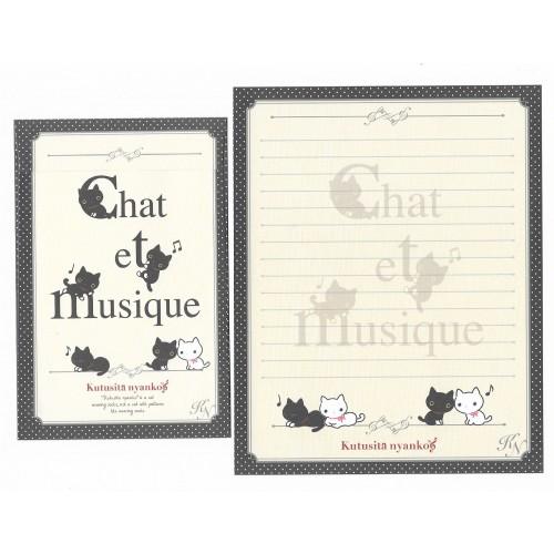Conjunto de Papel de Carta Importado Kutusita Nyanko Chat et Musique 3 - San-X Japan