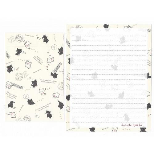Conjunto de Papel de Carta Importado Kutusita Nyanko Chaussettes - San-X Japan