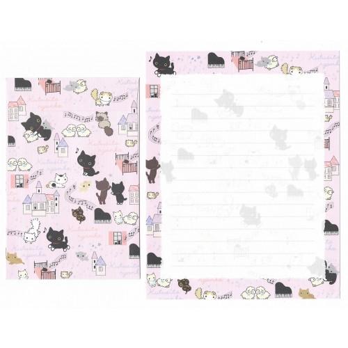 Conjunto de Papel de Carta Importado Kutusita Nyanko BH5 - San-X Japan