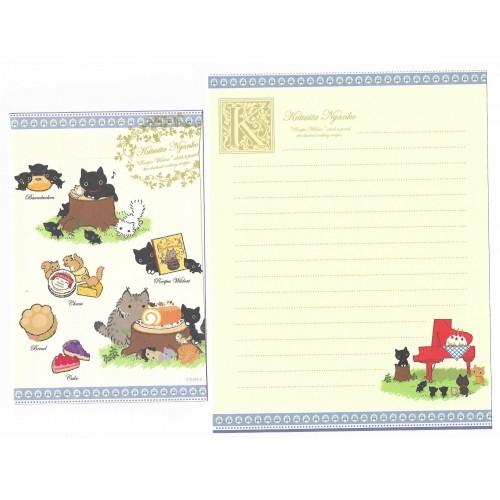 Conjunto de Papel de Carta Importado Kutusita Nyanko Recipes 8 - San-X Japan