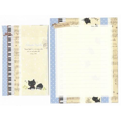Conjunto de Papel de Carta Importado Kutusita Nyanko Socks 5 - San-X Japan
