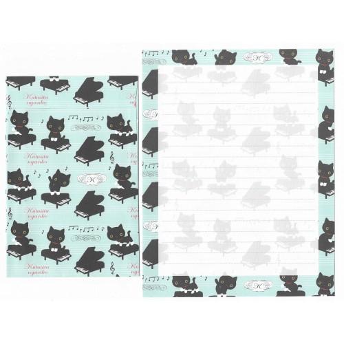 Conjunto de Papel de Carta Importado Kutusita Nyanko Socks 8 - San-X Japan