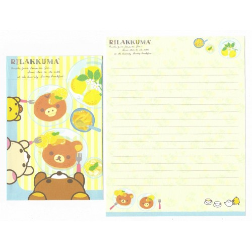 Conjunto de Papel de Carta Importado Rilakkuma Fresh Lemon 1 - San-X