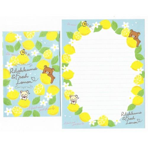 Conjunto de Papel de Carta Importado Rilakkuma Fresh Lemon 2 - San-X