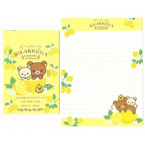 Conjunto de Papel de Carta Importado Rilakkuma Fresh Lemon 3 - San-X