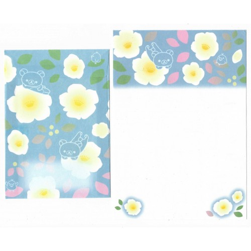 Conjunto de Papel de Carta Importado Rilakkuma Flower (CBL) - San-X