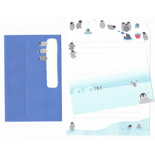 Conjunto de Papel de Carta Importado Palette Penguin - San-X