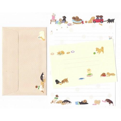 Conjunto de Papel de Carta Importado Palette Dogs - San-X