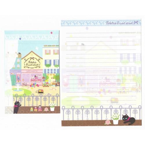 Conjunto de Papel de Carta Importado Palette Fleuriste - San-X