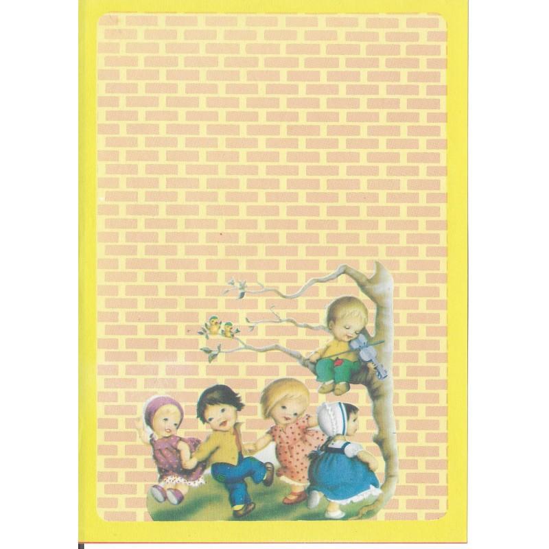 Papel de Carta Antigo Coleção BORDA AMARELA 007