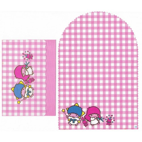 Conjunto de Papel de Carta Antigo Little Twin Stars Xadrez (RS)