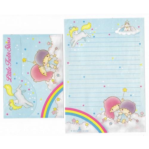 Conjunto de Papel de Carta Antigo Little Twin Stars Arco-Iris Sanrio Soft Paper