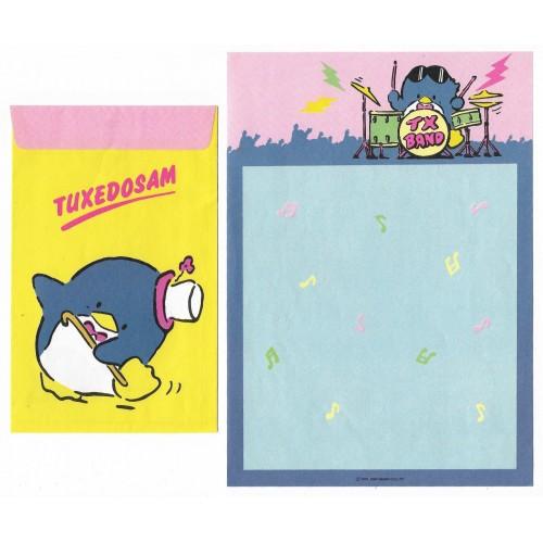 Anos 80. Conjunto de Papel de Carta Antigo Tuxedosam 1984 Tx Band Soft Paper