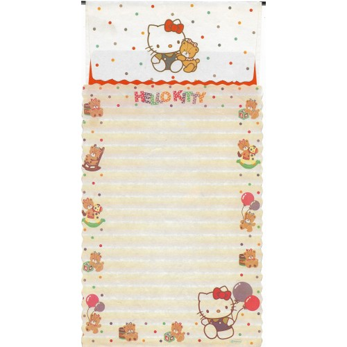 Conjunto de Papel de Carta Antigo Hello Kitty Bear