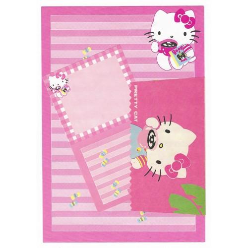 Conjunto de Papel de Carta Antigo Hello Kitty (Rosa)