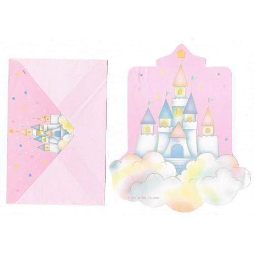 Conjunto de Papel de Carta Antigo Little Twin Stars Castelo II Sanrio Soft Paper