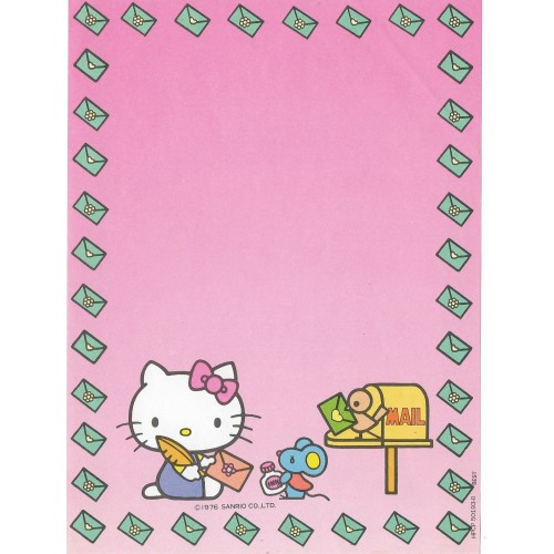 Papel de Carta Antigo Hello Kitty (CRS) - Best Cards