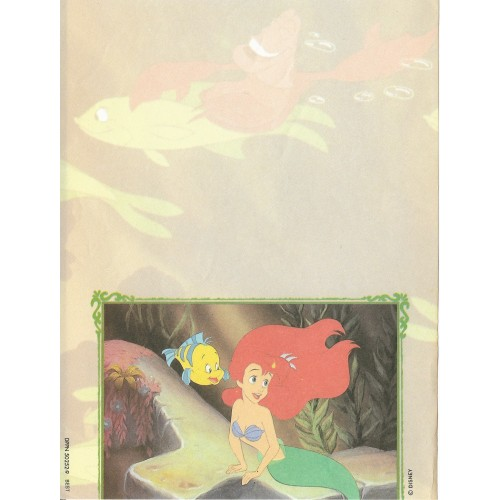 Papel de Carta Antigo Disney Pequena Sereia - Best Cards