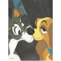 Papel de Carta Antigo Disney A Dama e o Vagabundo - Best Cards