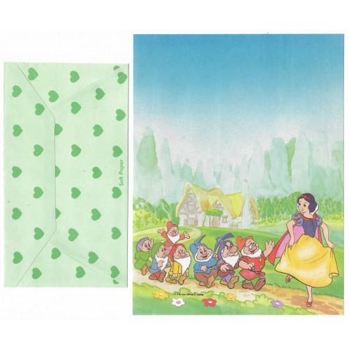Conjunto de Papel de Carta Antigo Disney Branca de Neve IV - Soft Paper