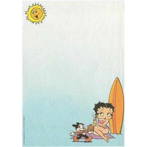 Ano 1987. Papel de Carta Avulso Antigo Betty Boop