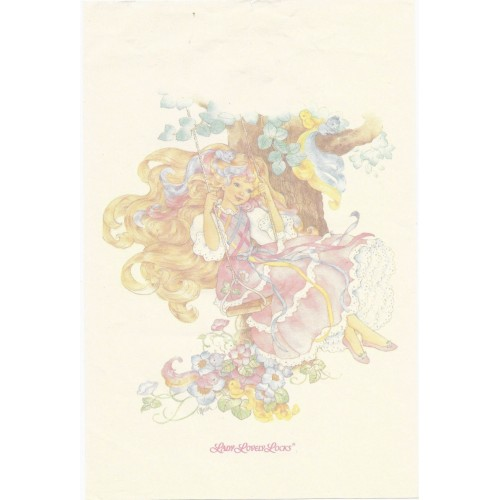 Papel de Carta AVULSO Antigo G Lady Lovely Locks