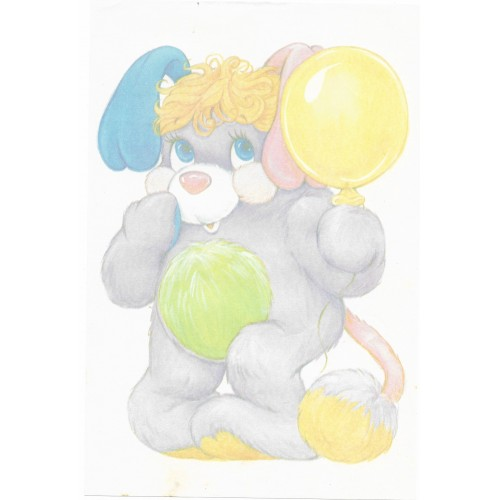 Papel de Carta AVULSO Antigo G Popples II