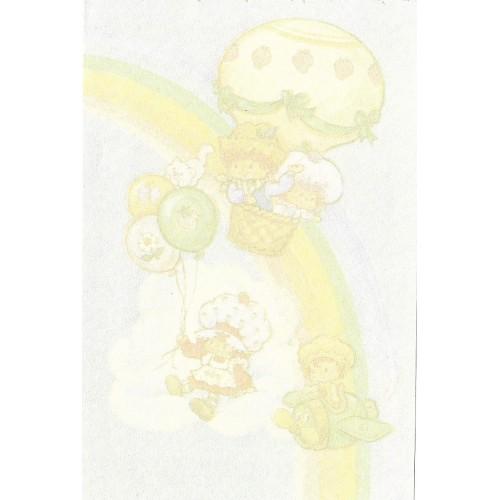 Mini Papel de Carta AVULSO Antigo Moranguinho (Balões)