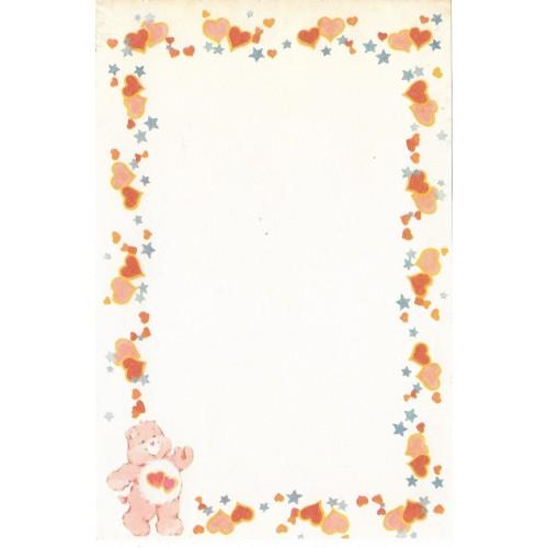 Mini Papel de Carta AVULSO Antigo Ursinhos Carinhosos (Corações)