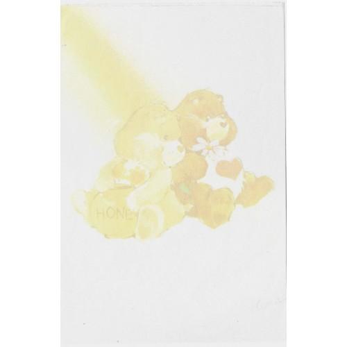 Mini Papel de Carta AVULSO Antigo Ursinhos Carinhosos (Honey)