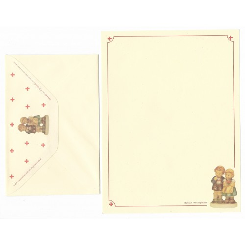 Conjunto de Papel de Carta Hum 220 - We Congratulate