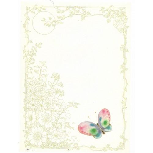 Papel de Carta Antigo Coleção Artesanal - 06556