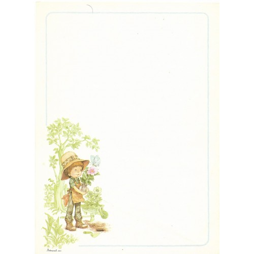Papel de Carta Antigo Coleção Artesanal - 06561