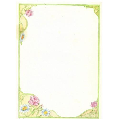 Papel de Carta Antigo Coleção Artesanal - 06553