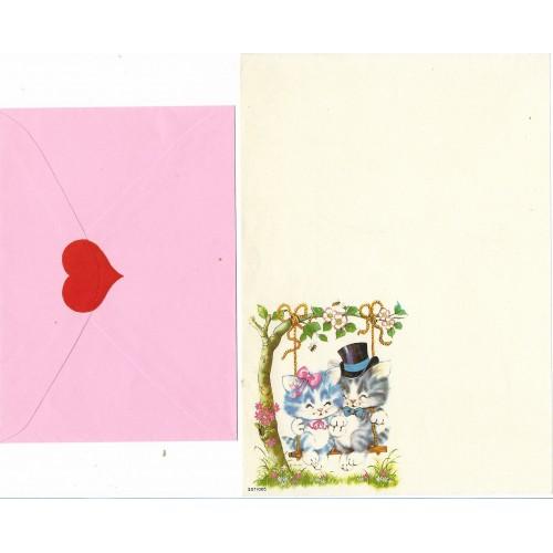 Conjunto de Papel de Carta Antigo Coleção SPACK Só Amor 01