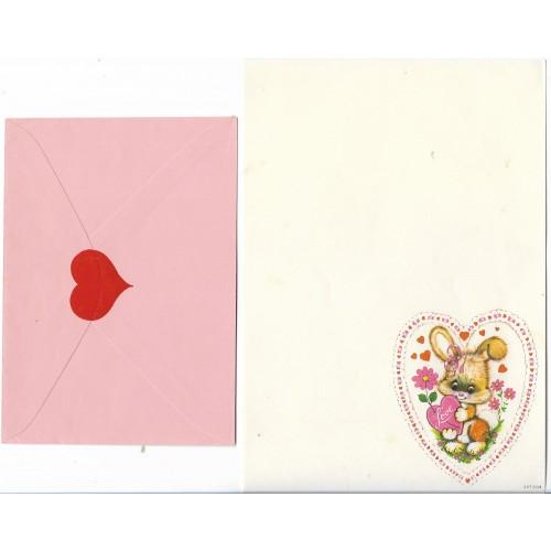Conjunto de Papel de Carta Antigo Coleção SPACK Só Amor 02