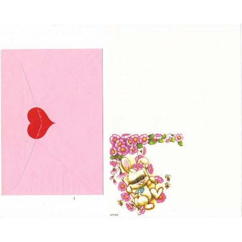 Conjunto de Papel de Carta Antigo Coleção SPACK Só Amor 03