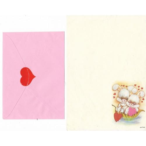 Conjunto de Papel de Carta Antigo Coleção SPACK Só Amor 04